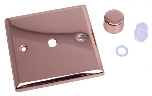 Varilight WY1.CU Urban Polished Copper 1 Gang Dimmer Plate Only + Knobs